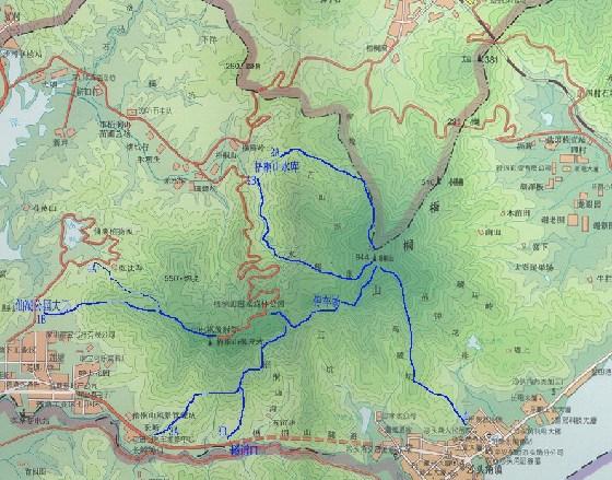 深圳梧桐山地图_深圳市梧桐山风景区游览图